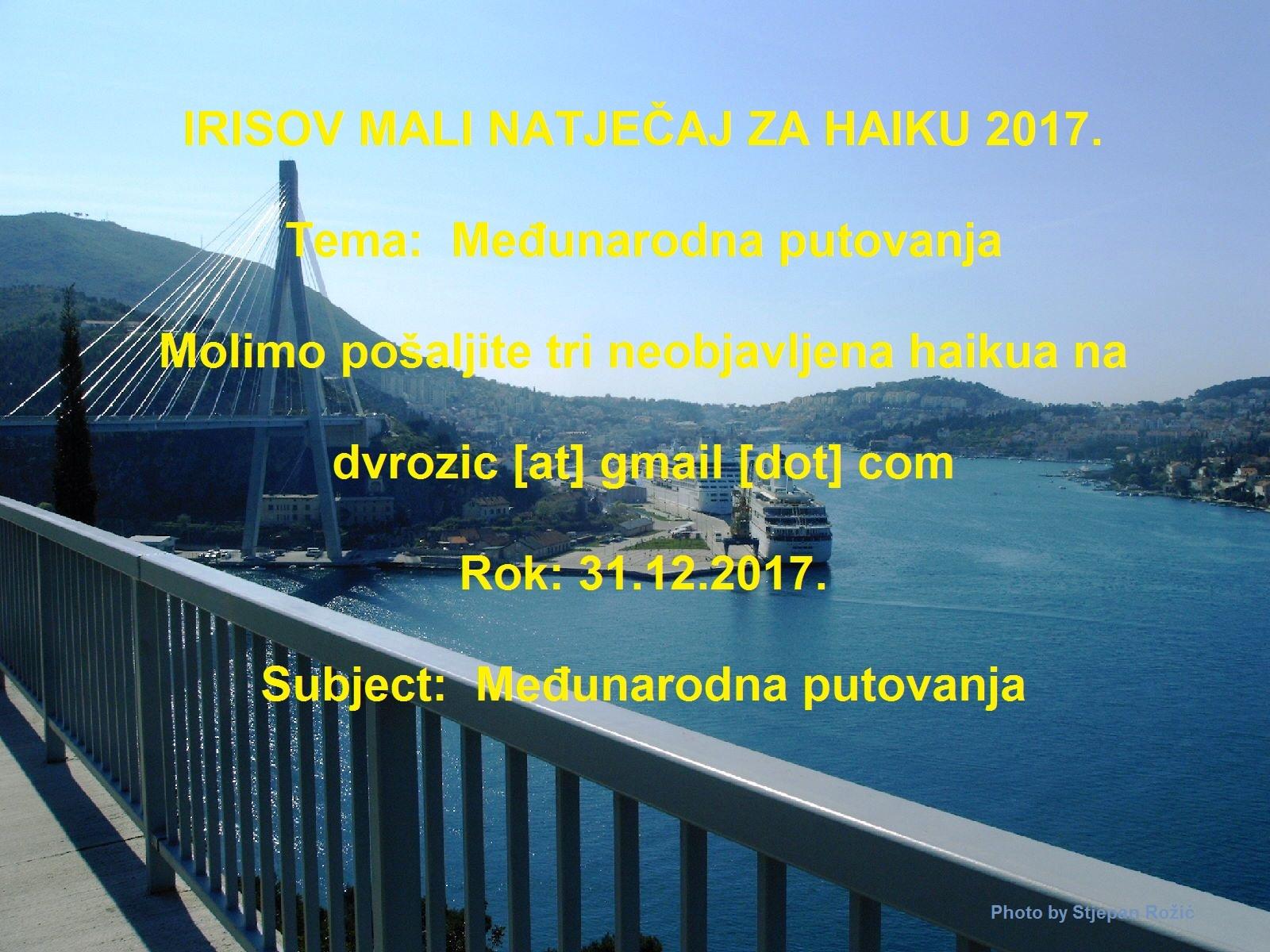 IRISOV MALI NATJAČAJ ZA HAIKU 2017.